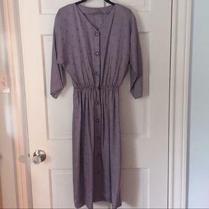 Vintage Maggy London silk dress w original belt